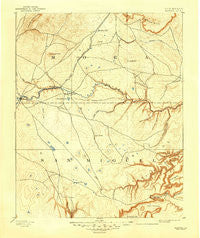 Watrous New Mexico Historical topographic map, 1:125000 scale, 30 X 30 Minute, Year 1894
