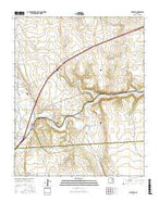 Watrous New Mexico Current topographic map, 1:24000 scale, 7.5 X 7.5 Minute, Year 2017 from New Mexico Map Store