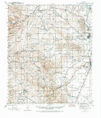 West Carlsbad New Mexico Historical topographic map, 1:62500 scale, 15 X 15 Minute, Year 1943