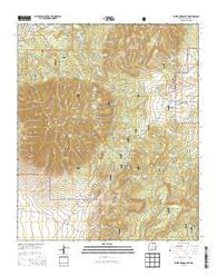 White Oaks South New Mexico Current topographic map, 1:24000 scale, 7.5 X 7.5 Minute, Year 2013
