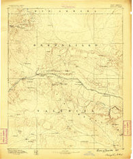 Wingate New Mexico Historical topographic map, 1:250000 scale, 1 X 1 Degree, Year 1886
