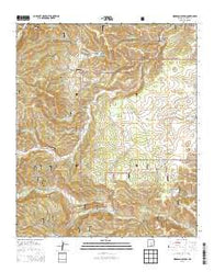Woodson Canyon New Mexico Historical topographic map, 1:24000 scale, 7.5 X 7.5 Minute, Year 2013