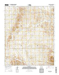 Wrye Peak New Mexico Historical topographic map, 1:24000 scale, 7.5 X 7.5 Minute, Year 2013