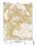 Yankee New Mexico Current topographic map, 1:24000 scale, 7.5 X 7.5 Minute, Year 2017 from New Mexico Map Store