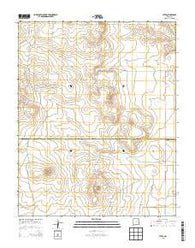 Yates New Mexico Historical topographic map, 1:24000 scale, 7.5 X 7.5 Minute, Year 2013