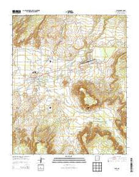 Zuni New Mexico Current topographic map, 1:24000 scale, 7.5 X 7.5 Minute, Year 2013