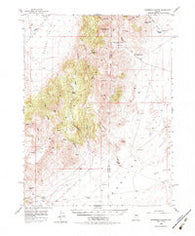 Ackerman Canyon Nevada Historical topographic map, 1:62500 scale, 15 X 15 Minute, Year 1956