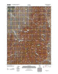 Adam Peak Nevada Historical topographic map, 1:24000 scale, 7.5 X 7.5 Minute, Year 2011