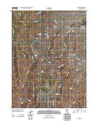 Adelaide Nevada Historical topographic map, 1:24000 scale, 7.5 X 7.5 Minute, Year 2011