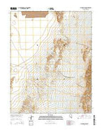 Alcatraz Island Nevada Current topographic map, 1:24000 scale, 7.5 X 7.5 Minute, Year 2014 from Nevada Map Store