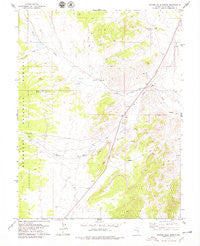 Badger Hole Spring Nevada Historical topographic map, 1:24000 scale, 7.5 X 7.5 Minute, Year 1978