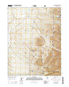 Belmont Creek Nevada Current topographic map, 1:24000 scale, 7.5 X 7.5 Minute, Year 2015