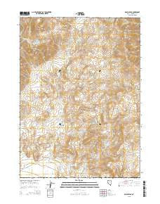 Bishop Peak Nevada Current topographic map, 1:24000 scale, 7.5 X 7.5 Minute, Year 2015