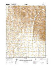 Black Butte Nevada Current topographic map, 1:24000 scale, 7.5 X 7.5 Minute, Year 2014 from Nevada Maps Store
