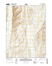 Black Butte SW Nevada Current topographic map, 1:24000 scale, 7.5 X 7.5 Minute, Year 2014 from Nevada Maps Store