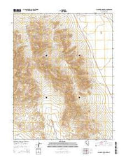 Black Dyke Mountain Nevada Current topographic map, 1:24000 scale, 7.5 X 7.5 Minute, Year 2014 from Nevada Maps Store