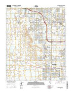 Blue Diamond SE Nevada Current topographic map, 1:24000 scale, 7.5 X 7.5 Minute, Year 2015 from Nevada Map Store