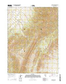 Boone Spring Nevada Current topographic map, 1:24000 scale, 7.5 X 7.5 Minute, Year 2015