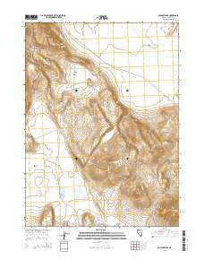 Boulder Lake Nevada Current topographic map, 1:24000 scale, 7.5 X 7.5 Minute, Year 2015