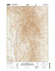 Capitol Peak Nevada Current topographic map, 1:24000 scale, 7.5 X 7.5 Minute, Year 2015