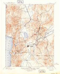 Carson City Nevada Historical topographic map, 1:125000 scale, 30 X 30 Minute, Year 1893