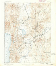 Carson Nevada Historical topographic map, 1:125000 scale, 30 X 30 Minute, Year 1891