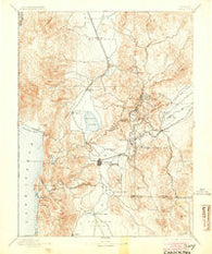 Carson Nevada Historical topographic map, 1:125000 scale, 30 X 30 Minute, Year 1893
