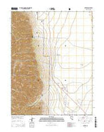Carvers Nevada Current topographic map, 1:24000 scale, 7.5 X 7.5 Minute, Year 2014 from Nevada Map Store