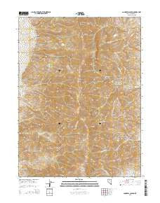 Congress Canyon Nevada Current topographic map, 1:24000 scale, 7.5 X 7.5 Minute, Year 2015