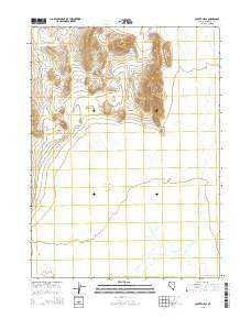 Coyote Hills Nevada Current topographic map, 1:24000 scale, 7.5 X 7.5 Minute, Year 2015