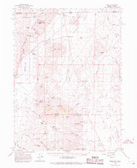 Denio Nevada Historical topographic map, 1:62500 scale, 15 X 15 Minute, Year 1966