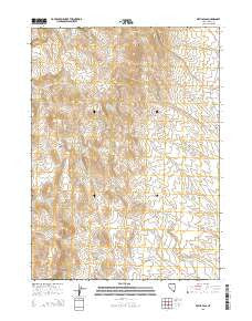 Devils Pass Nevada Current topographic map, 1:24000 scale, 7.5 X 7.5 Minute, Year 2015