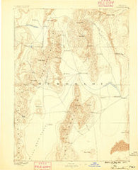 Disaster Nevada Historical topographic map, 1:250000 scale, 1 X 1 Degree, Year 1886
