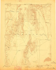 Disaster Nevada Historical topographic map, 1:250000 scale, 1 X 1 Degree, Year 1893