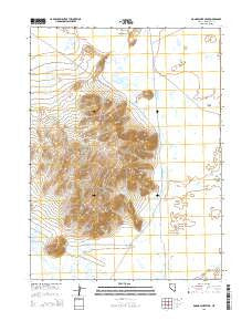 Donna Schee Peak Nevada Current topographic map, 1:24000 scale, 7.5 X 7.5 Minute, Year 2015