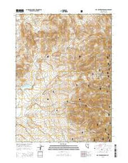 Dry Creek Reservoir Nevada Current topographic map, 1:24000 scale, 7.5 X 7.5 Minute, Year 2015 from Nevada Maps Store