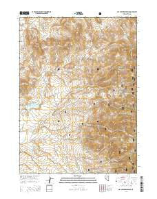 Dry Creek Reservoir Nevada Current topographic map, 1:24000 scale, 7.5 X 7.5 Minute, Year 2015