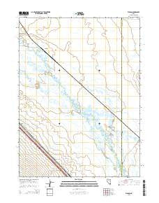 Ellison Nevada Current topographic map, 1:24000 scale, 7.5 X 7.5 Minute, Year 2015