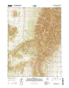 Exchequer Spring Nevada Current topographic map, 1:24000 scale, 7.5 X 7.5 Minute, Year 2015