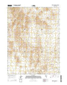 Ferber Peak NW Nevada Current topographic map, 1:24000 scale, 7.5 X 7.5 Minute, Year 2015