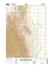 Flowery Lake Nevada Current topographic map, 1:24000 scale, 7.5 X 7.5 Minute, Year 2015 from Nevada Maps Store
