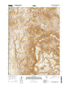 Fortynine Mountain Nevada Current topographic map, 1:24000 scale, 7.5 X 7.5 Minute, Year 2015