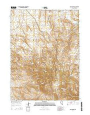 Fox Mountain Nevada Current topographic map, 1:24000 scale, 7.5 X 7.5 Minute, Year 2015 from Nevada Maps Store