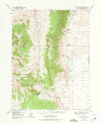 Garden Valley Nevada Historical topographic map, 1:62500 scale, 15 X 15 Minute, Year 1949