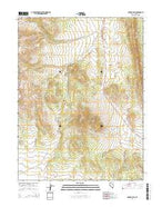 Garden Pass Nevada Current topographic map, 1:24000 scale, 7.5 X 7.5 Minute, Year 2014 from Nevada Map Store