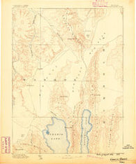 Granite Range Nevada Historical topographic map, 1:250000 scale, 1 X 1 Degree, Year 1886