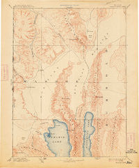 Granite Range Nevada Historical topographic map, 1:250000 scale, 1 X 1 Degree, Year 1894