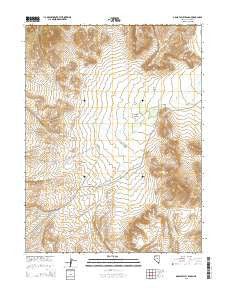 Grass Valley Ranch Nevada Current topographic map, 1:24000 scale, 7.5 X 7.5 Minute, Year 2015