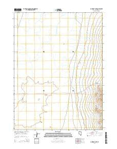 Gumboot Lake Nevada Current topographic map, 1:24000 scale, 7.5 X 7.5 Minute, Year 2015