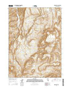 Hardscrabble Nevada Current topographic map, 1:24000 scale, 7.5 X 7.5 Minute, Year 2015